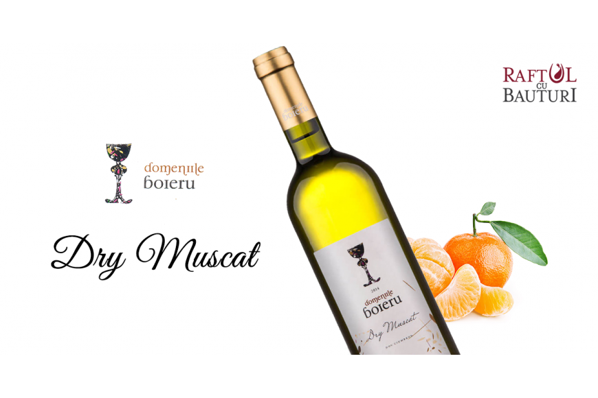 Vin alb Boieru Dry Muscat