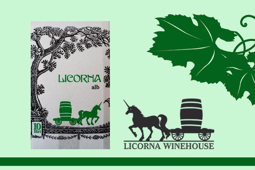Vin alb demisec Licorna baginbox 10 L