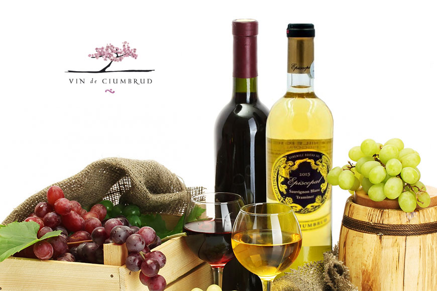 Vin alb demisec Episcopal Sauvignon Blanc si Traminer