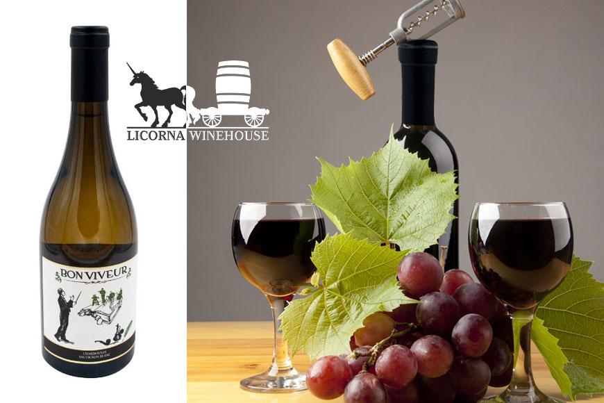 Vin alb sec Bon Viveur Chardonnay si Sauvignon Blanc