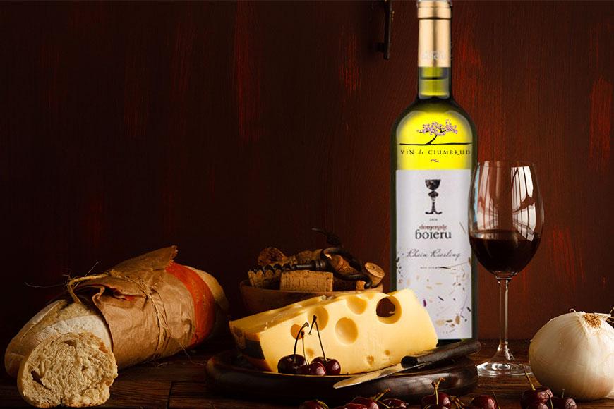 Vin alb sec Boieru Riesling De Rhin