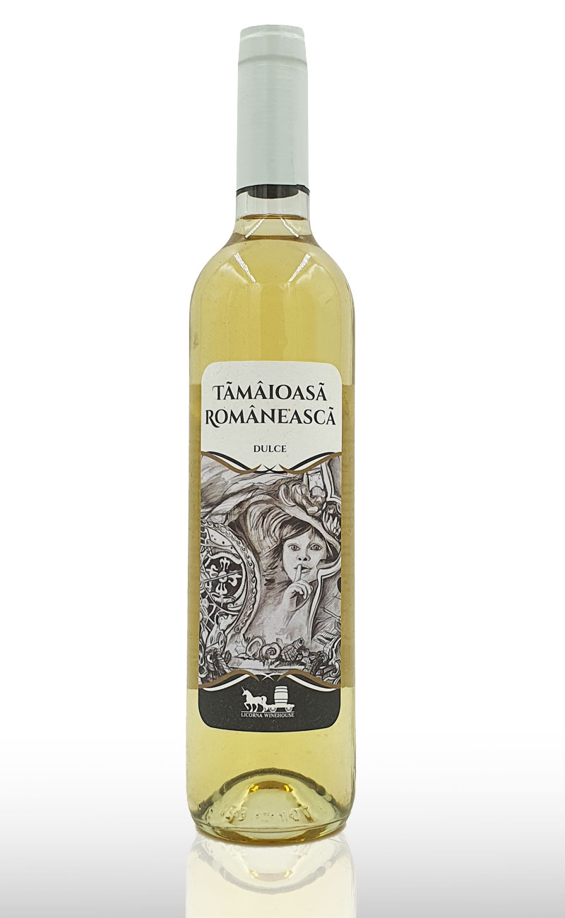 Vin alb dulce Licorna Tamaioasa Romaneasca