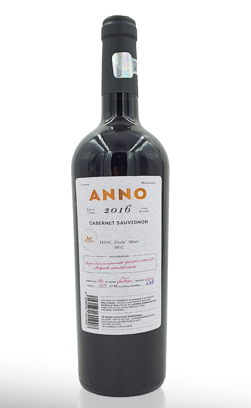 Licorna- ANNO Cabernet Sauvignon 2016